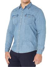 Levi's Men's Big & Tall Barstow Western Pearl Snap Casual Denim Dress Shirt image 5