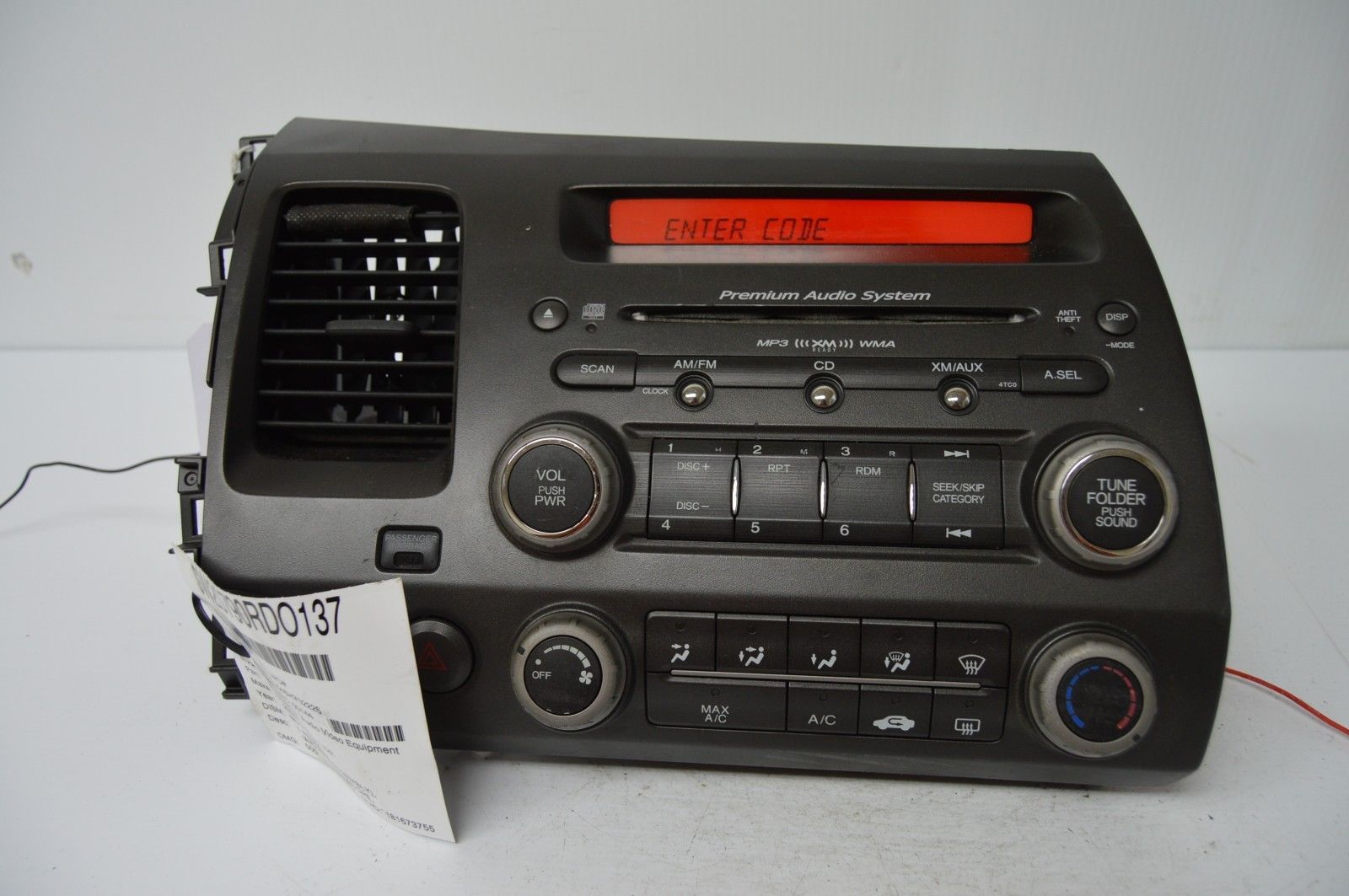 2006 2011 honda civic radio cd player oem radio 39100 svb. Black Bedroom Furniture Sets. Home Design Ideas