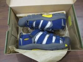 BNIB Keen Newport H2 Youth Boys sandals, size 4, Blue, ships w/o box - $45.53