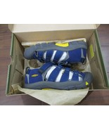 BNIB Keen Newport H2 Youth Boys sandals, size 4, Blue, ships w/o box - $45.53