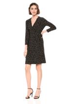 Anne Klein Dress Faux Wrap V Neck 3/4 Sleeves Sz XL NEW NWT 220 - $29.70