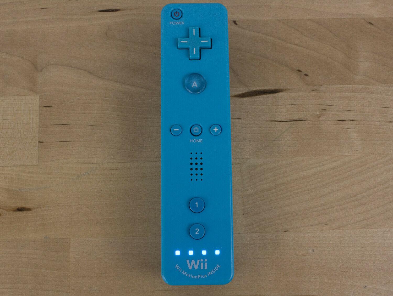Nintendo Wii RVL-036 Motion Plus Controller Remote Blue