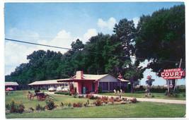 Fairfield Court Motel US Highway 27 Tallahassee Florida 1958 postcard - $6.44