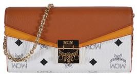 New MCM Women's $430 Large Colorblock Visetos Crossbody Chain on Wallet ... - $292.05