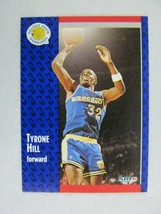 Tyrone Hill Golden State Warriors 1991 Fleer Basketball Card 67 - $0.98