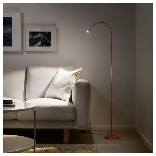 IKEA JANSJÖ LED floor/read lamp, copper color
