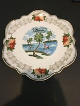 "Vintage Florida State Souvenir Decorative Plate 8"" Gold Border - $9.49"