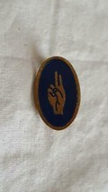 """1""""ANTIQUE VINTAGE GS GIRL SCOUTS OF AMERICA UNIFORM LAPEL PIN,BROWNIE WO... - $4.94"""