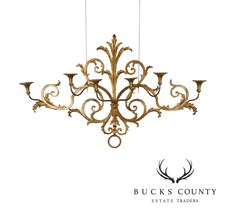 1950's Italian Gilt Metal Large 6 Candle Holder Wall Sconce - $795.00