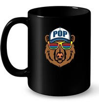 Pop Ceramic Mug with Bear Wearing Hat and Cool Sunglasses - $13.99+