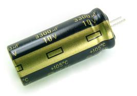 4 pcs Panasonic FC 3300uf 10v 105C Radial Capacitor Low ESR, Trimmed Leads - $5.39