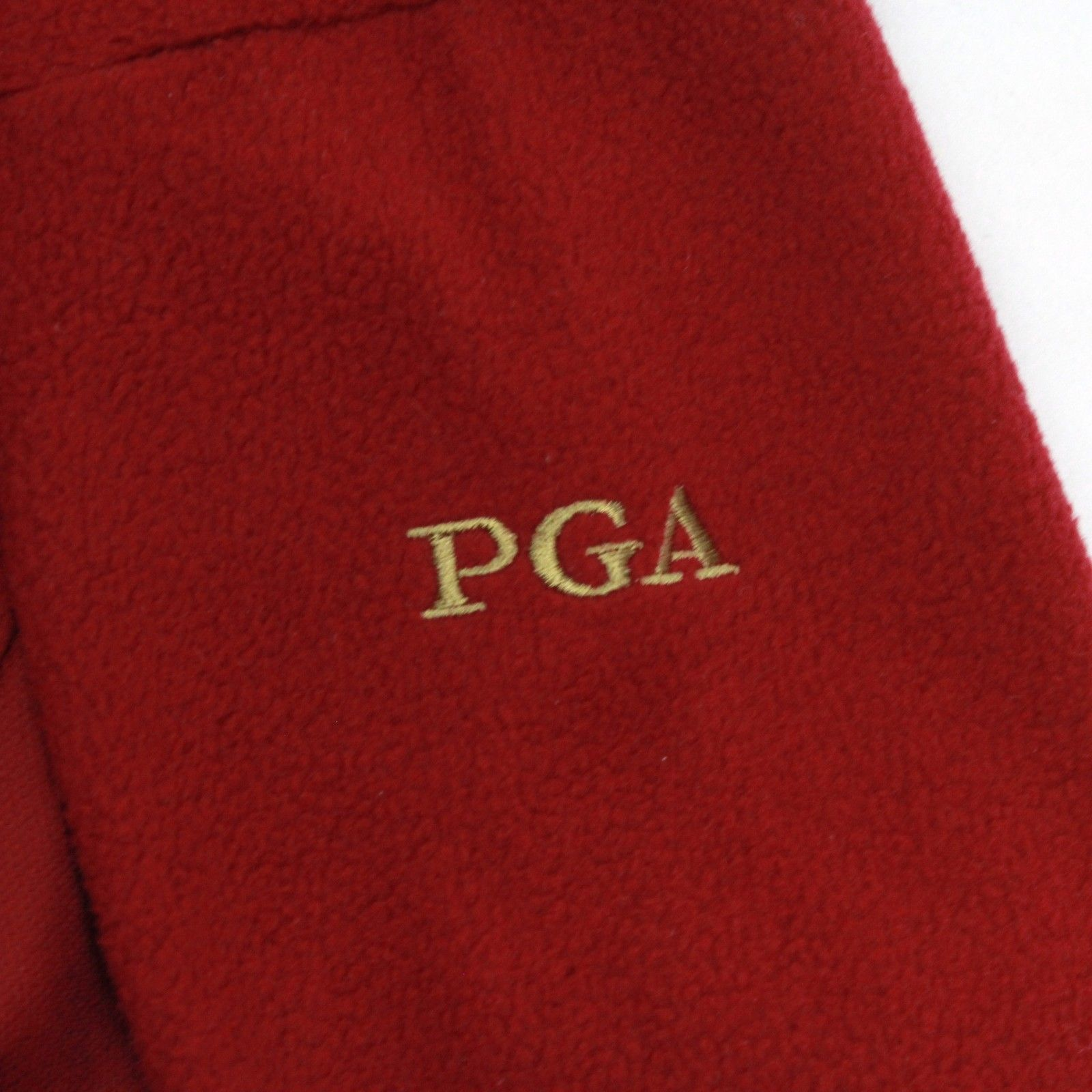 Antigua Mens Large 1/2 Zip PGA Mock Fleece Pullover Sweater Jacket Embroidered