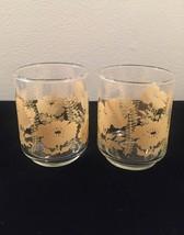 Vintage 70s Libbey Flower and Fern juice glasses- set of 2 image 2