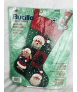 Bucilla Christmas DIY Stocking Kit Jolly Beaded Santa 18-inch Felt Applique - $31.63