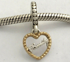 Authentic Pandora Loving Family w/ 14K Gold Dangle Charm, 792011, New - $72.19