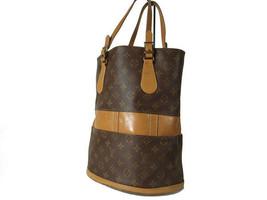 Auth Louis Vuitton Vintage Bucket Monogram Tote Bag Shoulder Bag Purse LB12185L - $230.00