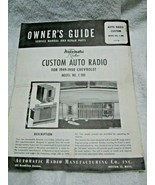RARE Vintage 1949-50 Chevrolet CUSTOM AUTO RADIO OWNER'S GUIDE-Model No.... - $39.95