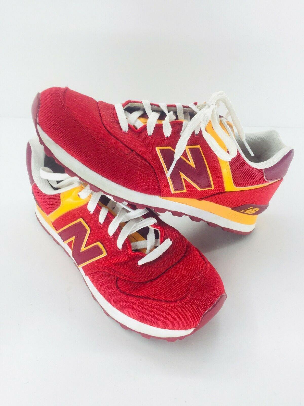 New Balance Athletic Sneaker Shoes Men's Sz 11.5 Red Orange ML574PPR  574 EUC