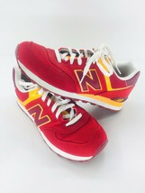 New Balance Athletic Sneaker Shoes Men's Sz 11.5 Red Orange ML574PPR  57... - $46.39
