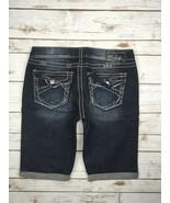 SILVER JEANS SHORTS Buckle Low Rise Berkley Surplus Dark Flap Denim Jean... - $19.97