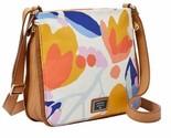 New Fossil Women's Preston Canvas Crossbody Bag Floral
