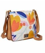 New Fossil Women's Preston Canvas Crossbody Bag Floral - £87.98 GBP