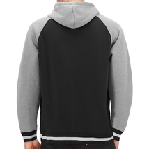 Men's Fleece Varsity Sweatshirt Letterman Sports Raglan Button Up Hoodie Jacket image 15