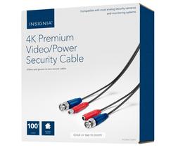 Insignia™ - 100' 4K Ultra HD Premium Video/Power Accessory Cable - Black - $29.65