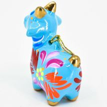 Handcrafted Painted Ceramic Blue Goat Country Farm Confetti Ornament Made Peru image 3