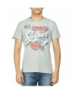 Superdry Men's Super 7 Tri T-Shirt, Gray Heather, Size S, MSRP $30 - $17.81