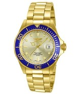 Invicta Men's 14124 Pro Diver Gold Dial 18k Gold Ion-Plated Stainless S... - $229.44
