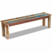 vidaXL Solid Reclaimed Wood Bench Dining Seats Home Seat Furniture Entra... - £121.63 GBP
