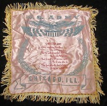 """Vintage U. S. Army Pillow Sham """"Sweetheart""""  Chicago, ILL - $5.93"""