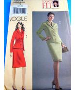 Uncut FFold Vogue Todays Fit Sandra Betzina Suit Jacket Skirt 8204 size ... - $6.92