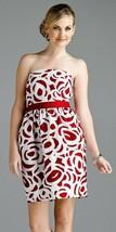 $169 Antonio Melani Ginger Red White Strapless Dress 12 - $49.99