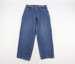 Vintage 90s Tommy Hilfiger Mens 32x30 Bootcut Spell Out Patch Denim Jean... - $49.45