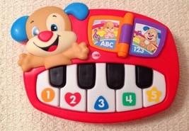 Fisher Price Laugh & Learn Puppy's Piano - CMW47, 30 Sing-Along Songs & ... - $170,02 MXN