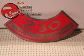 66 Nova Chevy II Chevelle Base Engine 230 Turbo Thrift Air Cleaner Decal - $8.25