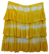 Alberto Makali Yellow Tiered Skirt 2 - $26.91