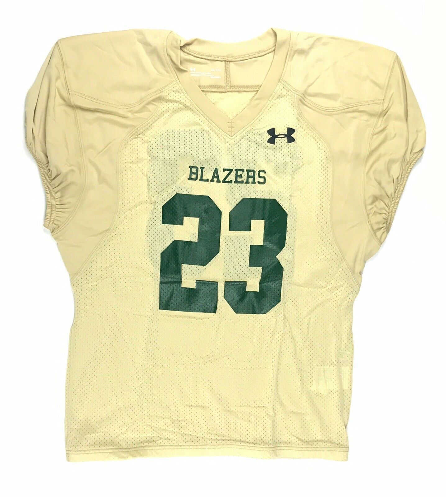Primary image for New Under Armour Men's L Blazers Football Practice Mesh Jersey #23 Gold Green