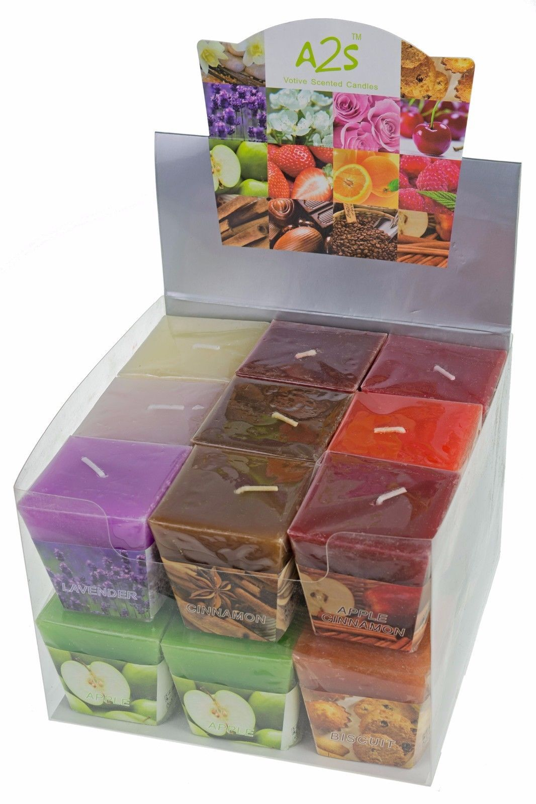All2shop Scented Votive Candles Set of 18 Assorted Pure Scents for Relaxation