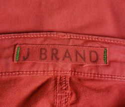 "J Brand ""Skinny Leg"" Red Jeans 24 Cotton Stretch Style #811K120 image 5"