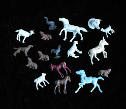 Vintage Plastic & Lead Toy Play Set Figures  animals dogs horses duck + - $16.99