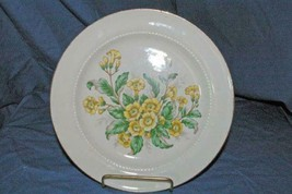 "Eastern China Yellow Flowers Dinner Plate 9 1/8"" - $5.39"