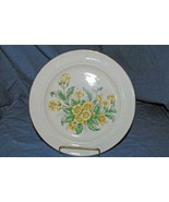 """Eastern China Yellow Flowers Dinner Plate 9 1/8"""" - $3.77"""