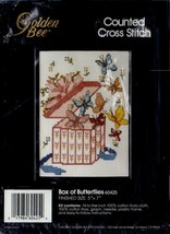 "Box of Butterflies Cross Stitch Kit #60425 NIP 5"" x 7"" - New Old Stock from 1990 - $7.95"