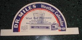 Antique Advertising Dr. Miles hanger / Sign West End Pharmacy Hagerstown MD - $25.00