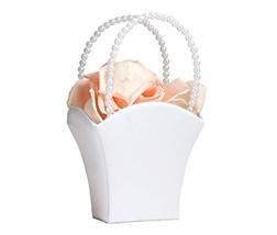 White Flower Basket Flower Girl Basket - $12.57