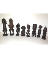 "Katumo Lot of 8 African Teak Figures Tribal Art Collection Wakamba Kenya 6"" - 8"" - $400.00"