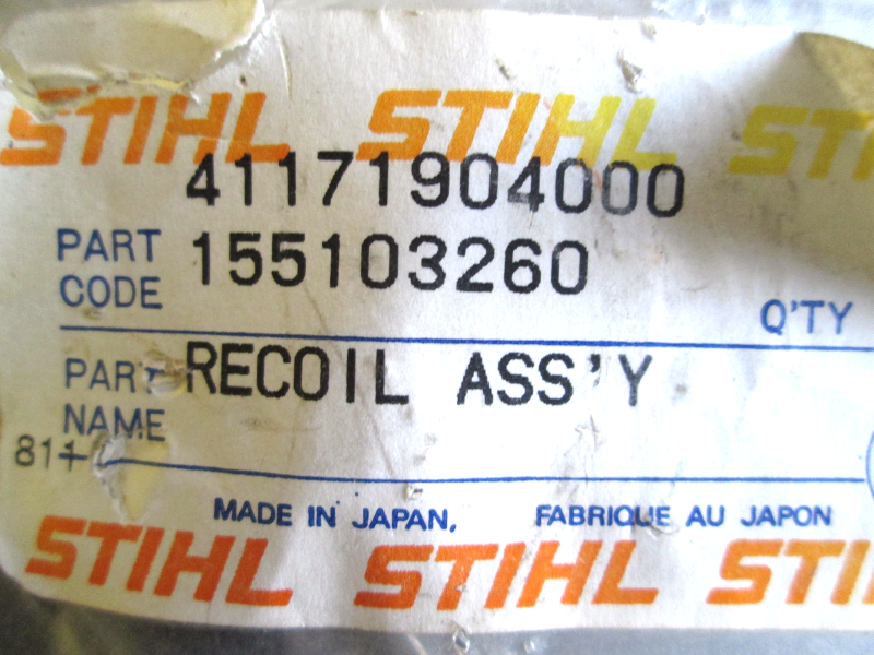4117 190 4000, Stihl, Recoil Assembly and 50 similar items
